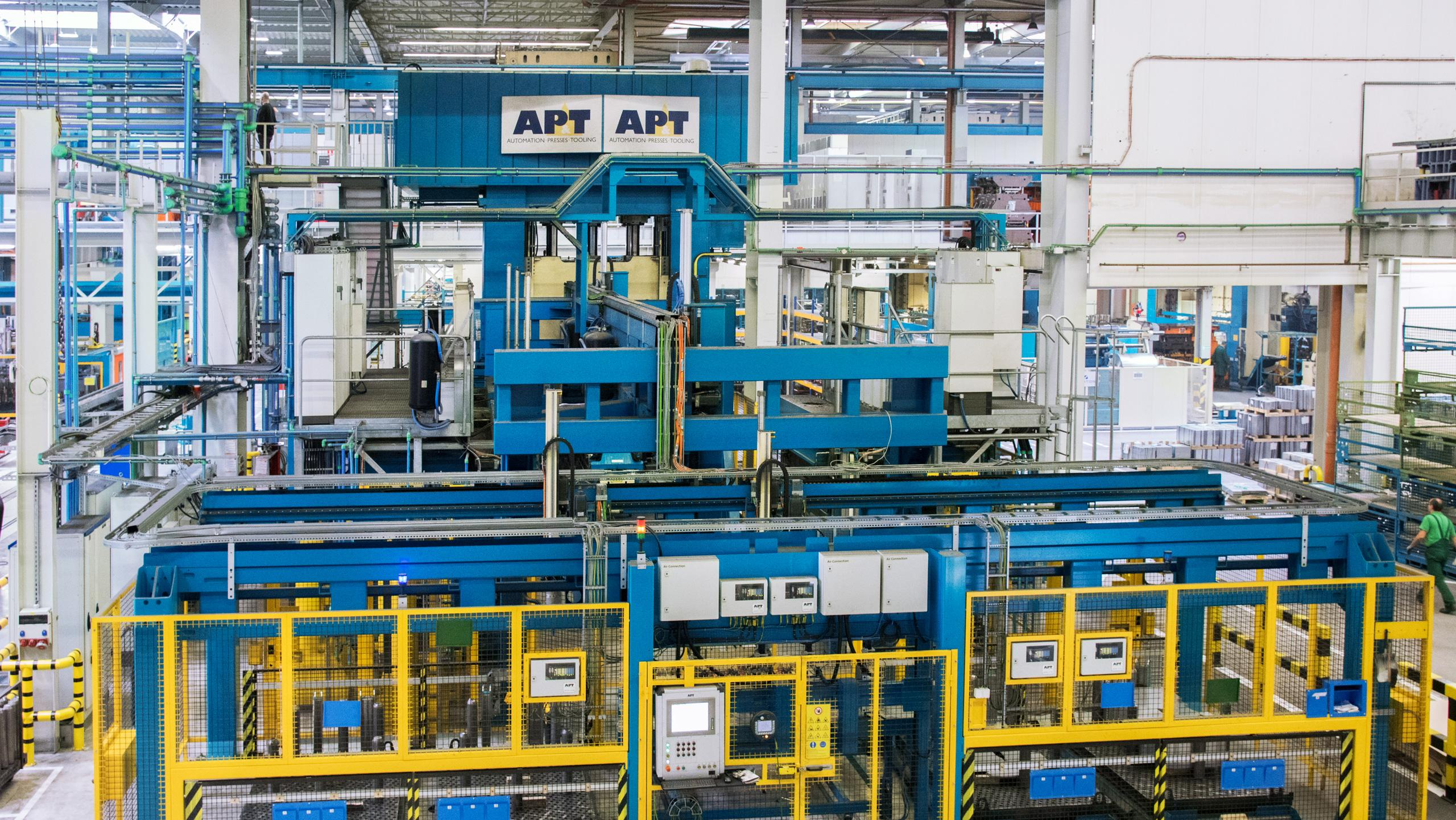 So far AP&T has installed three complete press hardening lines at Gedia's facilities in Germany and Poland.
