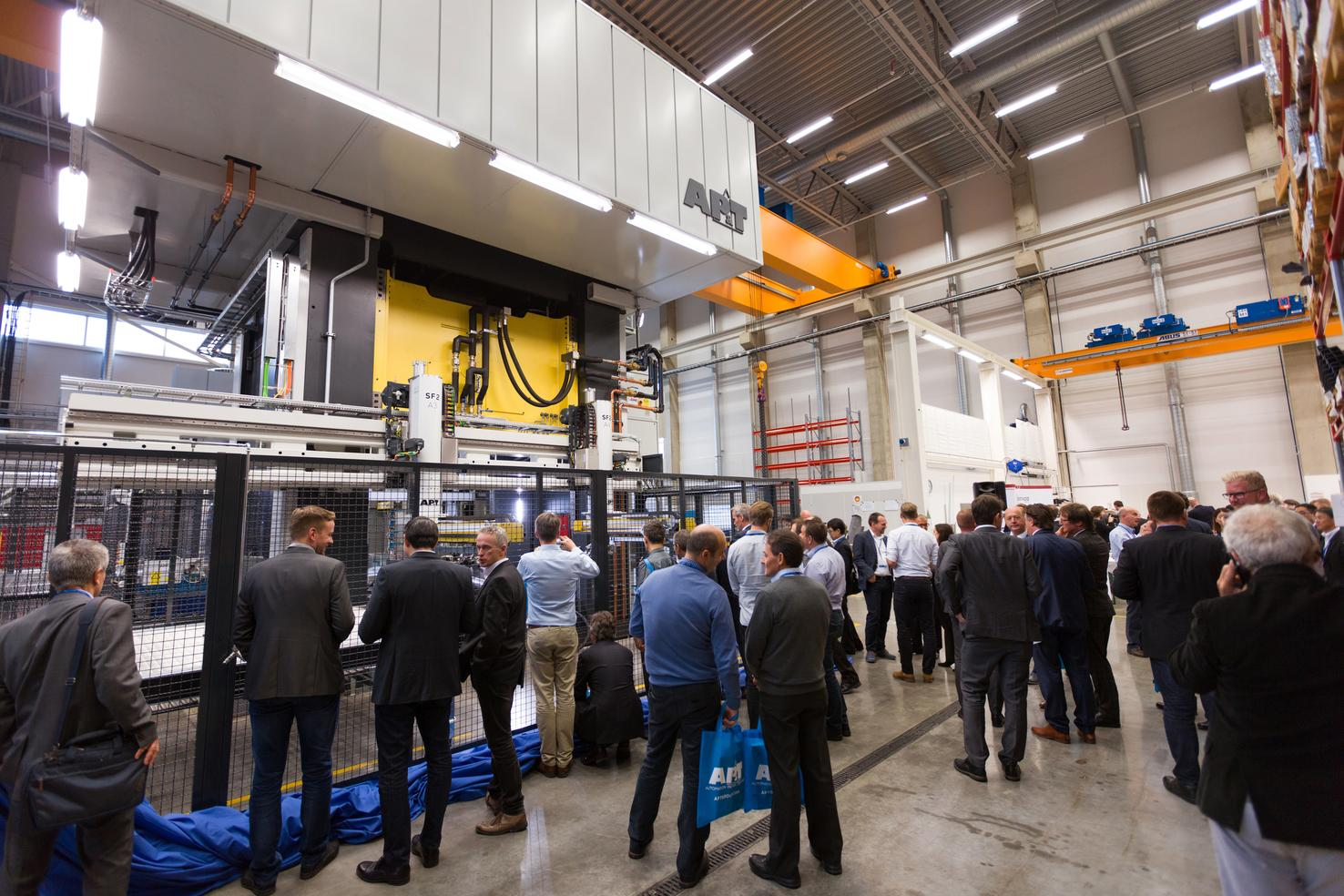The new servo hydraulic press was presented to customers and other stakeholders for the first time at an event in Ulricehamn, Sweden on October 4 and 5.