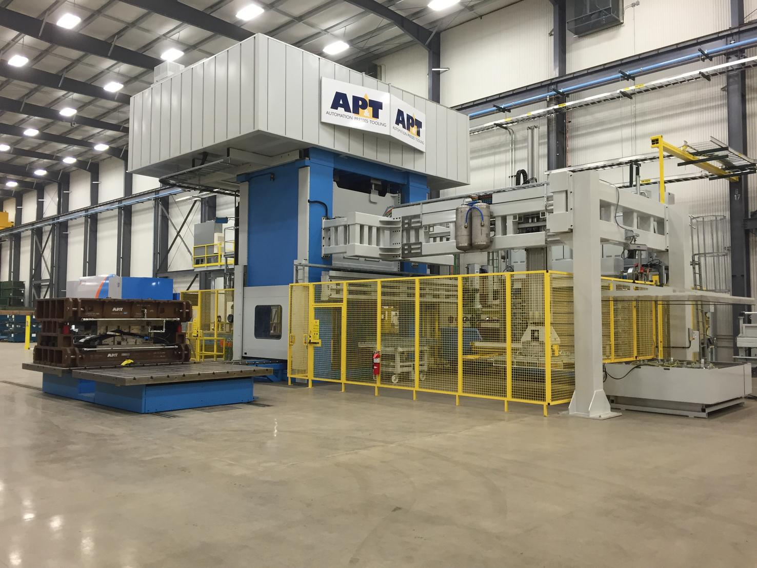 The new press hardening line at DTG's American Tooling Center will be used to develop and test tools and for pre-production, and it is an important part of the collaboration between the two companies.