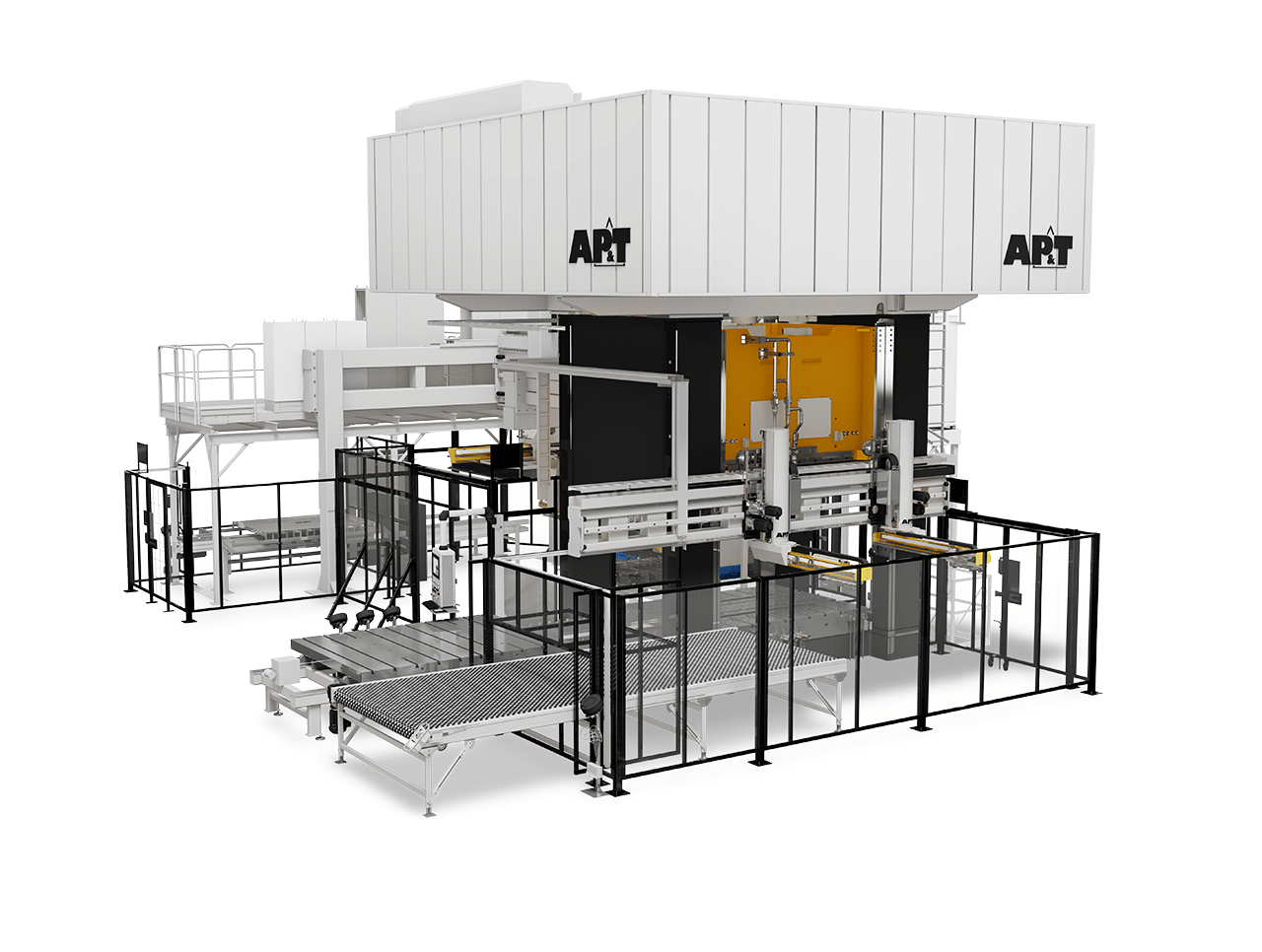 AP&T's new production line for hot forming of high-strength aluminum enables the weight of car body parts to be reduced up to 50 percent.